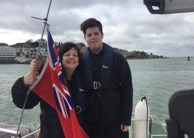 Caine- a natural sailor, Joy errmmmh, fender overboard!